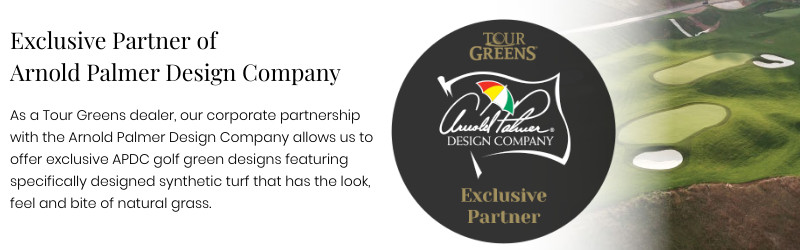 Tour Greens of Denver is a proud partner of the Arnold Palmer Design Company